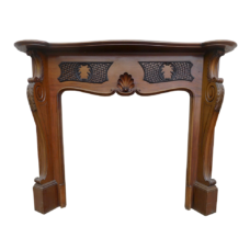 "TS084 - Antique Louis IV Mahogany Surround (53.5""H x 60""W)"