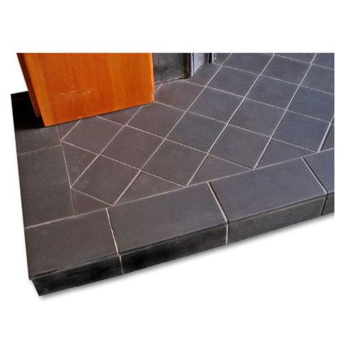 Black Diamond Quarry Tile Hearth