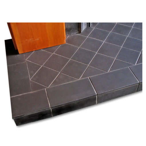 Black Diamond Quarry Tile Hearth