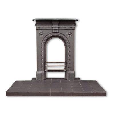 Black Quarry Tile Hearth