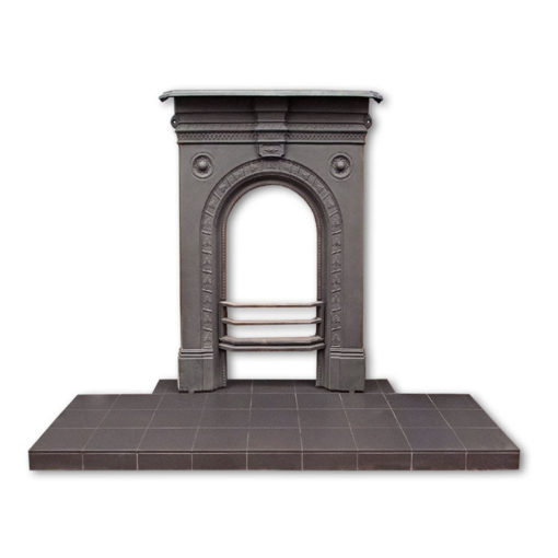 Black Quarry Tile Hearth