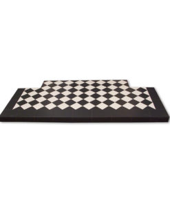 Black & White Diamond Quarry Tile Hearth