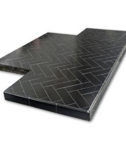 Glazed Oblong Tiled Hearth
