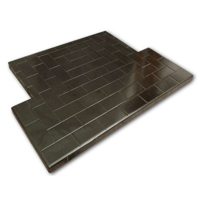 6x2 Inch Glazed Oblong Tiled Hearth - Pick Size/Colour