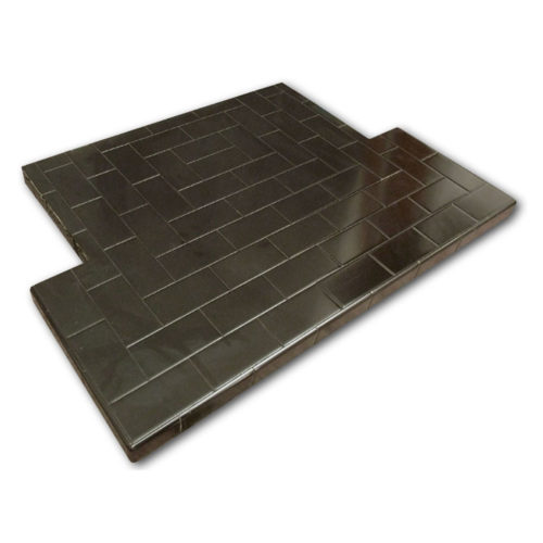 Glazed Oblong Tiled Hearth