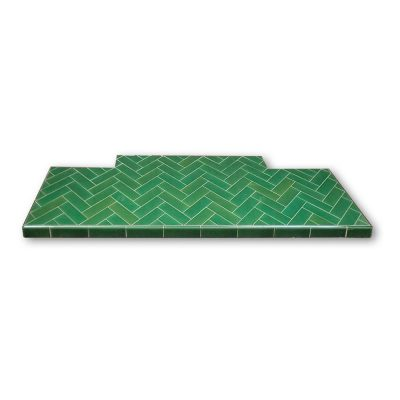 6x2 Inch Glazed Oblong Tiled Hearth