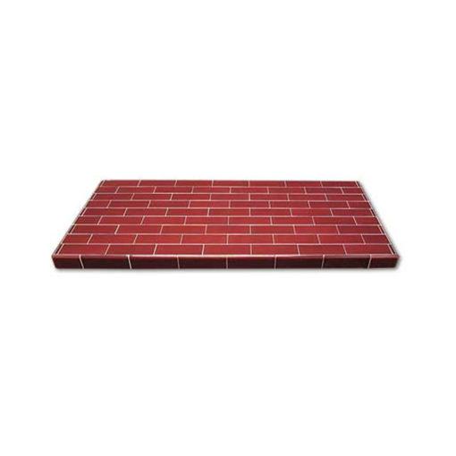 6x2 Inch Glazed Oblong Tiled Hearth