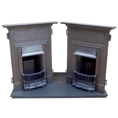 """BED159 A&B - Pair Of Edwardian Bedroom Fireplaces (38.25""""H x 30""""W)"""