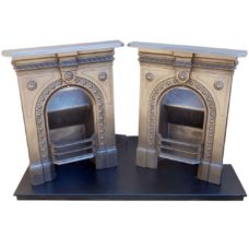 "BED163 - Vintage Bedroom Fireplace Pair (36.25""H x 28.5""W)"