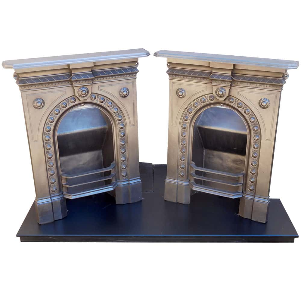 Antique Vintage Bedroom Fireplace Pair Victorian