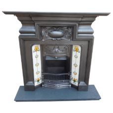 "COMBI299 - Cast Iron Edwardian Combination Fireplace (50.5""H x 50.75""W)"