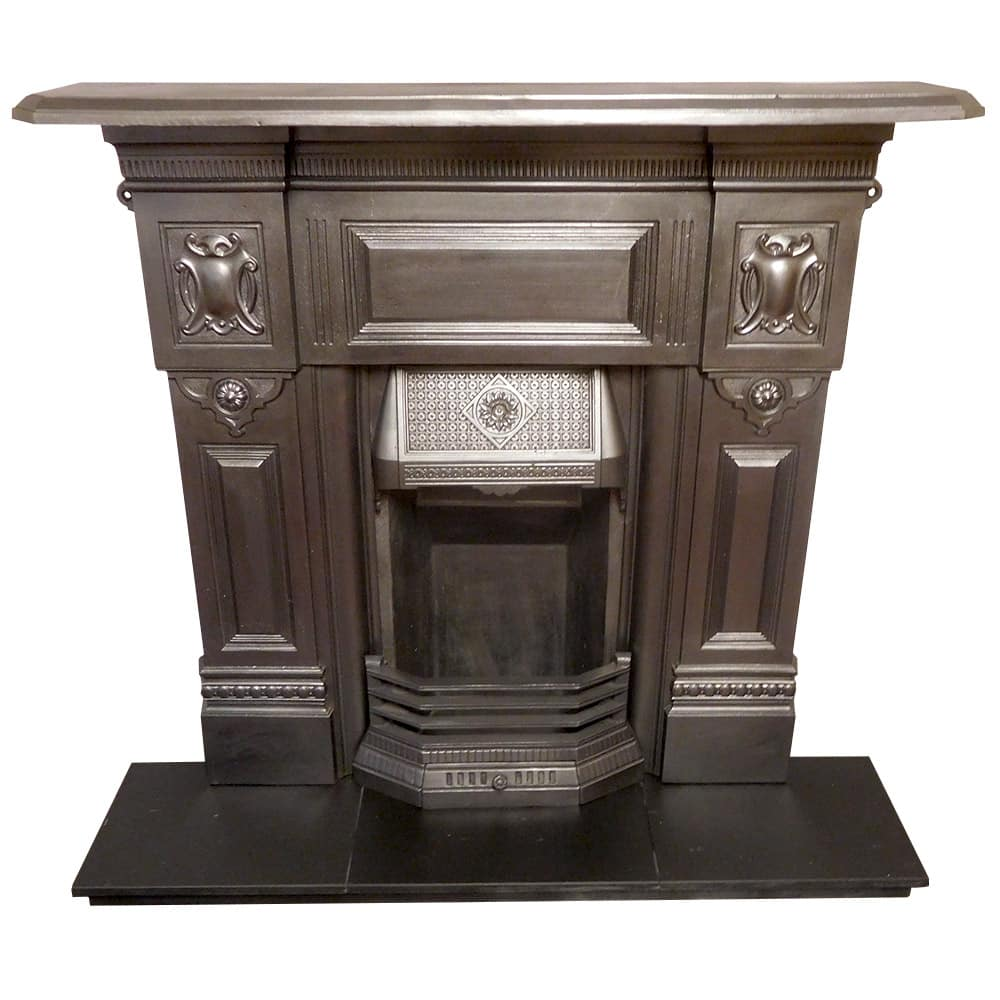 Cast iron victorian combination fireplace buy from vfs