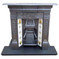 "COMBI302 - Late Victorian Edwardian Combination Fireplace (46.25""H x 37""W)"