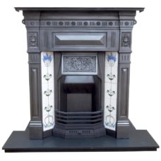 "COMBI303 - Original Edwardian Combination Fireplace (46.25""H x 42""W)"