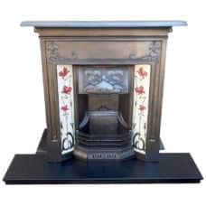 "COMBI306 - Original Floral Combination Fireplace (45""H x 43""W)"