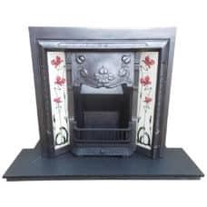 "INS291 - Art Nouveau Fireplace Insert (38""H x 38""W)"