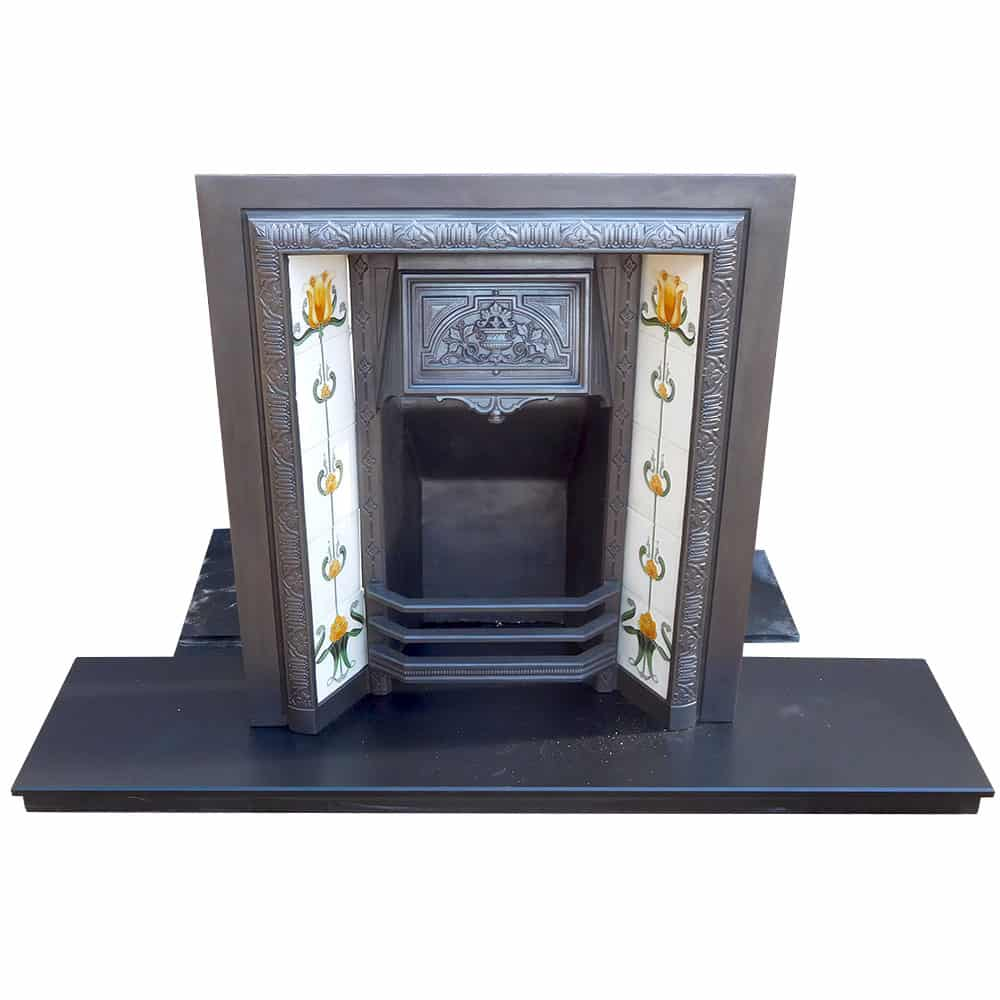 Original Vintage Fireplace Insert From Victorian