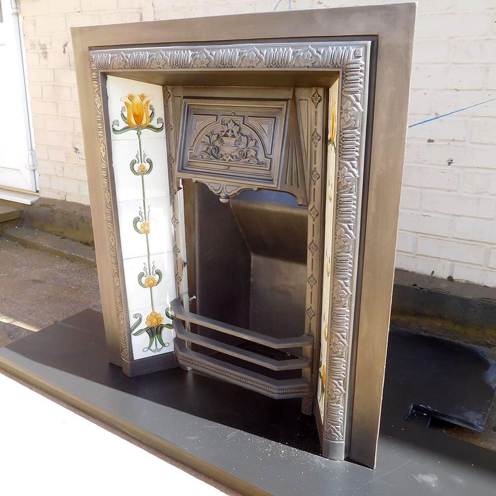 Antique Vintage Bedroom Fireplace: Original Vintage Fireplace Insert