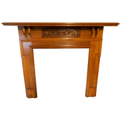 "TS085 - Carved Freeze Edwardian Oak Surround (54""H x 54.5""W)"