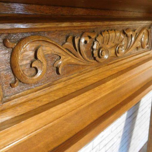 Carved Freeze Edwardian Oak Surround