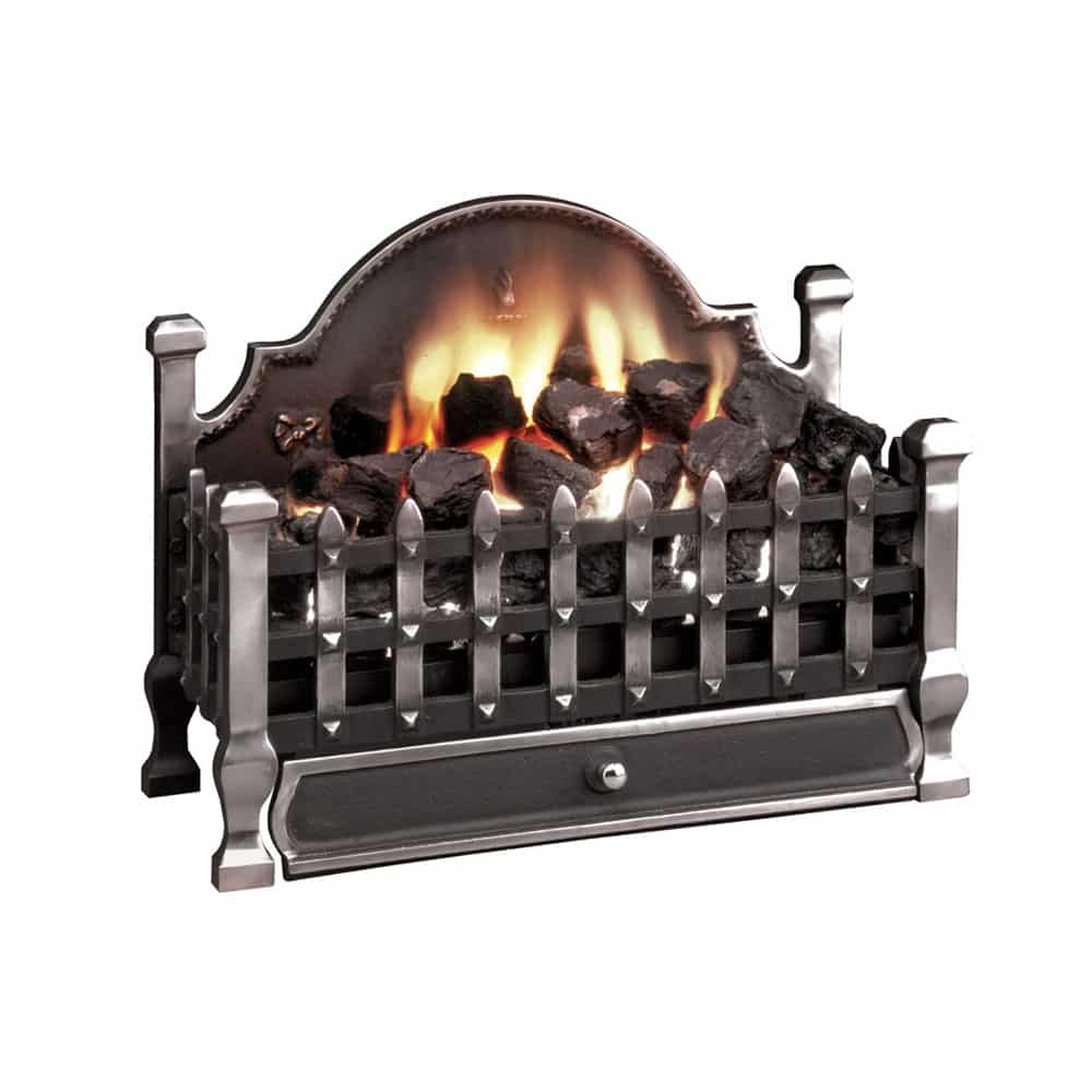 "Gallery Castle Cast Iron Fire Basket (22.5"") - Victorian ..."