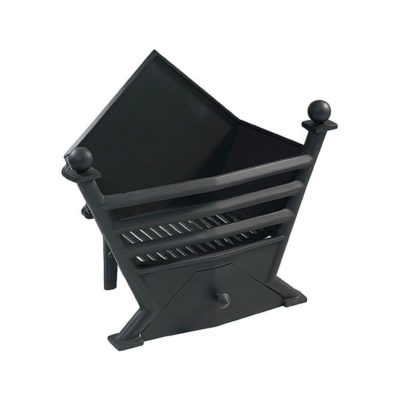FB053 - Gallery Art Deco Cast Iron Fire Basket