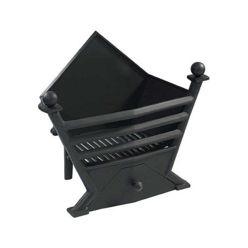 Art Deco Cast Iron Fire Basket