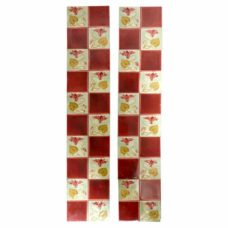 OT261 - Square Pattern Antique Fireplace Tiles