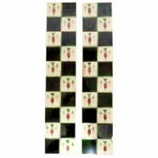OT262 - Original Square Pattern Fireplace Tiles