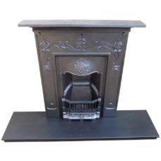 "BED165 - Floral Original Bedroom Fireplace (40""H x 36""W)"