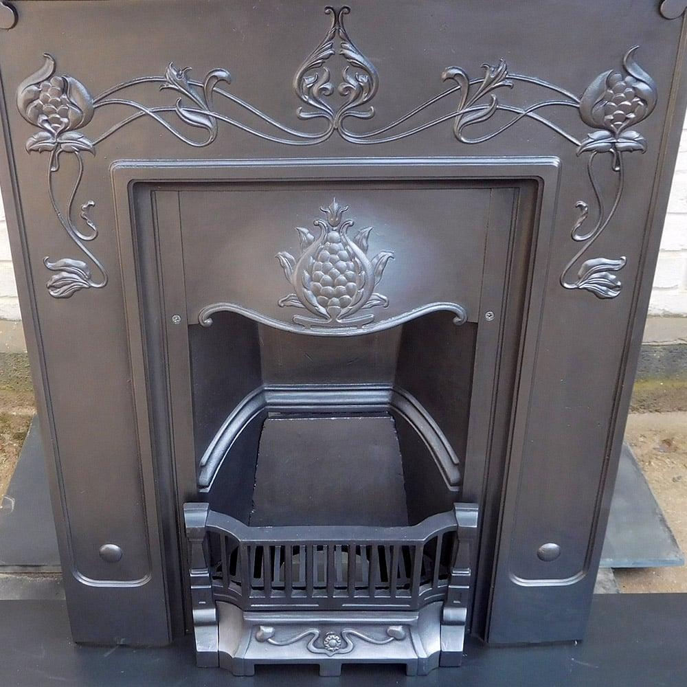Antique Vintage Bedroom Fireplace: Floral Original Bedroom Fireplace