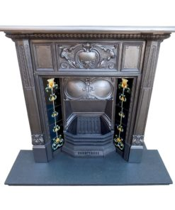 Heavily Detailed Combination Fireplace