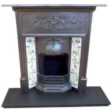 "COMBI313 - Combination Fireplace With Floral Breast (46.75""H x 42""W)"