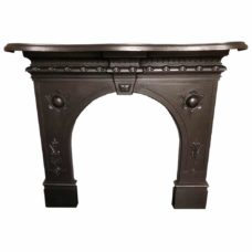 CS061 - Antique Cast Iron Fire Surround (45.5″H x 47″W)