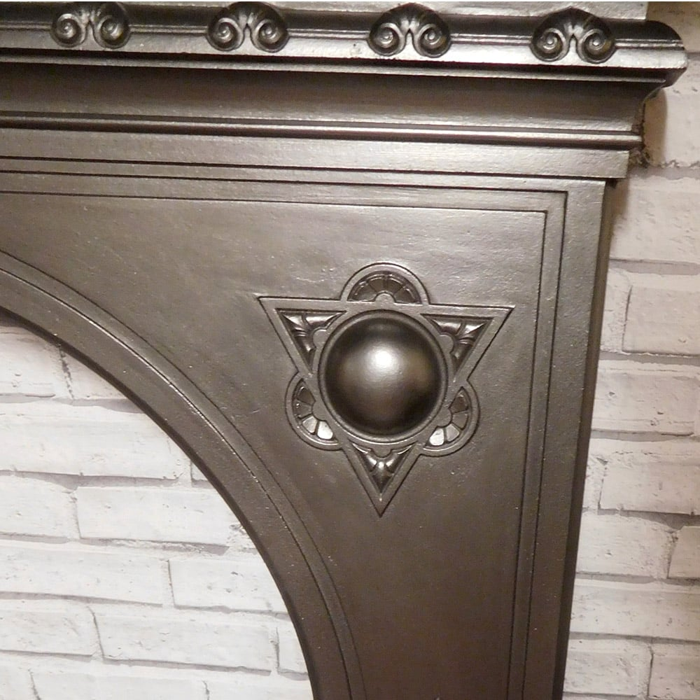 Okld Cast Iron ~ Antique cast iron fire surround from the victorian