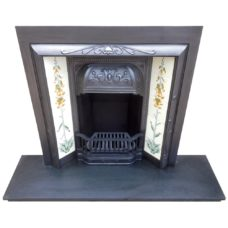 "INS305 - Simple Antique Floral Fireplace Insert (38""H x 36""W)"