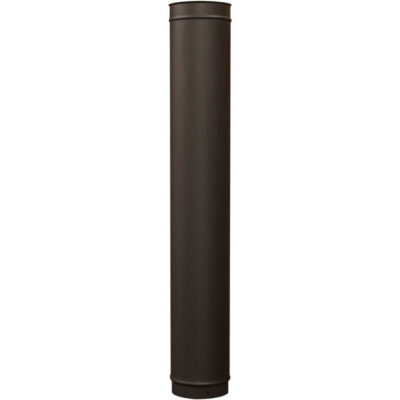 """300mm Straight Cast Iron Stove Pipe (5"""") - Pick Your Colour"""