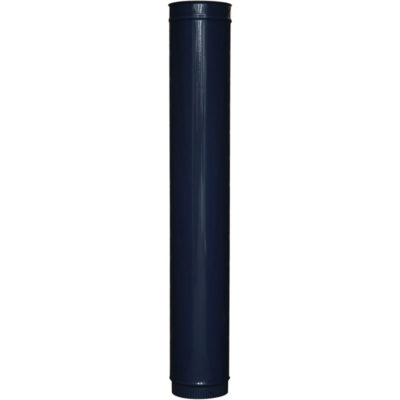 "300mm Straight Cast Iron Stove Pipe (5"") - Pick Your Colour"