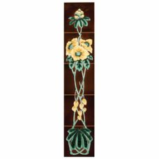 RT104 - Stovax Rhododendron Tile Set (4930)