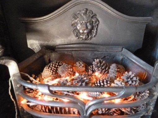 Original Arts And Crafts Fire Basket