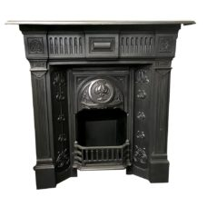 "COMBI319 - Antique Floral Combination Fireplace (43""H x 43""W)"