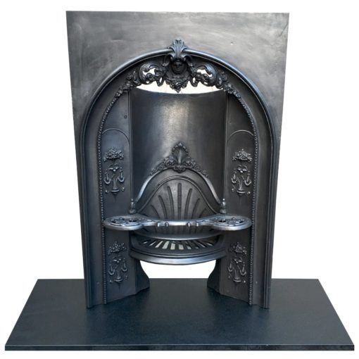 Arched Cast Iron Fireplace Insert