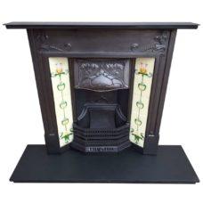 """COMBI320 - Art Nouveau Floral Combination Fireplace (40.5""""H x 42""""W)"""