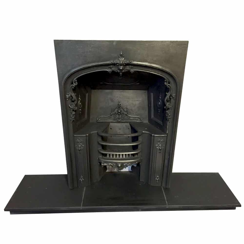Ins cast iron fireplace insert ″h ″w ebay