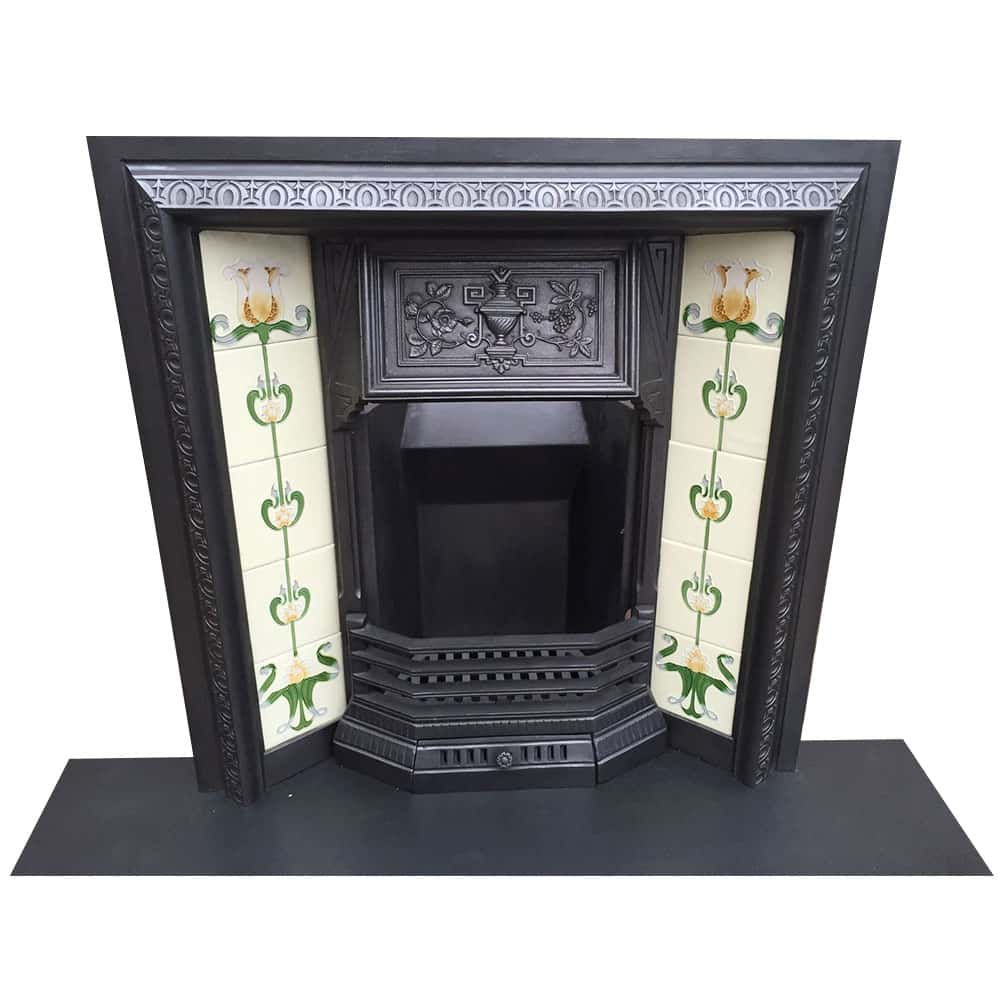 Decorated Urn Fireplace Insert From Victorian Fireplace Store