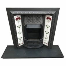 "INS325 - Double Floral Canopy Fireplace Insert (38""H x 38""W)"