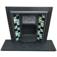 "INS326 - Beautiful Antique Fireplace Insert (38""H x 38""W)"