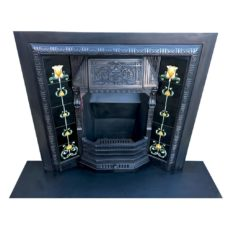 "INS327 - Gorgeous Antique Fireplace Insert (38""H x 40""W)"