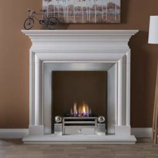 "Avellino Mantel Fire Surround (Agean Limestone) (57"")"