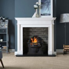 "Aversa Mantel Fire Surround (Agean Limestone) (58"")"
